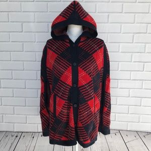 NEW! | TOMMY HILFIGER Hooded Sweater Poncho #79